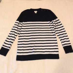 J.Crew shoulder-button Charley sweater